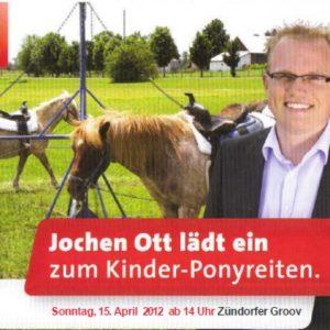 Jochen Ott lädt zum Ponyreiten