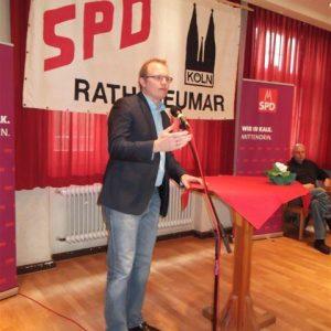 Jochen Ott beim Frühjahrsempfang in Rath/Heumar