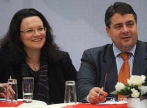 Andrea Nahles und Sigmar Gabriel