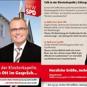 Talk mit Jochen Ott und Günter Wallraff