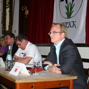 Jochen Ott beim Kandidatentreffen in Brück